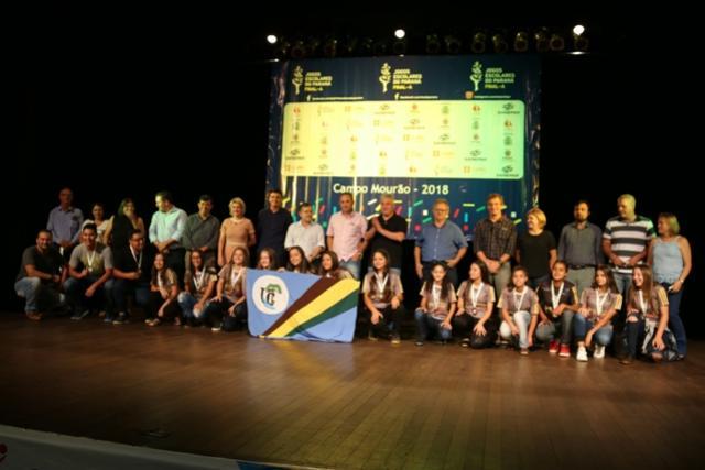 Douglas Fabrício e Tauillo Tezelli lançam  65º Jogos Escolares do Paraná em Campo Mourão