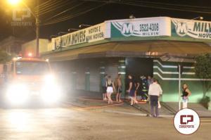Incêndio em loja de móveis na Bento Munhoz mobiliza Bombeiros e Polícia Militar em Goioerê