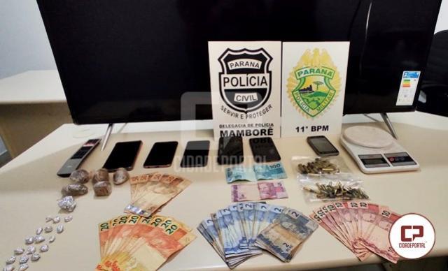 Polícias Civil e Militar desencadeiam Operação contra o tráfico de drogas em Mamborê e Campo Mourão