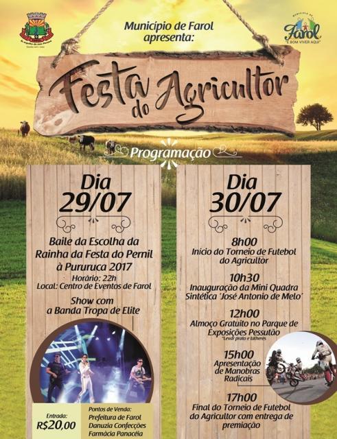 Farol irá realizar Festado do Agricultor e escolha da Rainha do Pernil à Pururuca