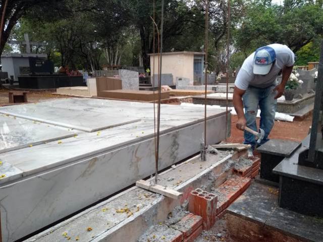 Construção e reformas no Cemitério de Campo Mourão termina na próxima terça-feira, 22
