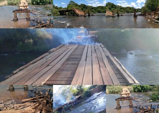 Ponte é incendiada em Peabiru e prejudica mais de 100 famílias de agricultores