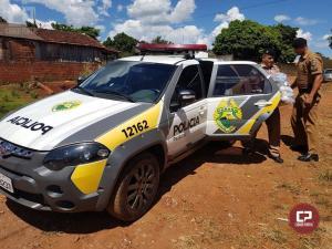 Policia Militar de Peabiru realiza entrega de cestas Básicas para Famílias carentes do Município
