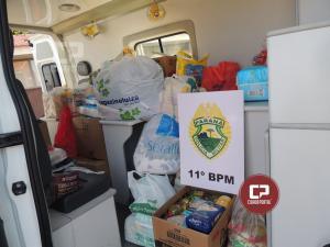 Policiais do 11º BPM finalizam campanha em prol menino Davi entregando doações arrecadadas