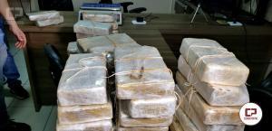 Denarc apreende mais de 1 milhão de reais em drogas na cidade de Campo Mourão