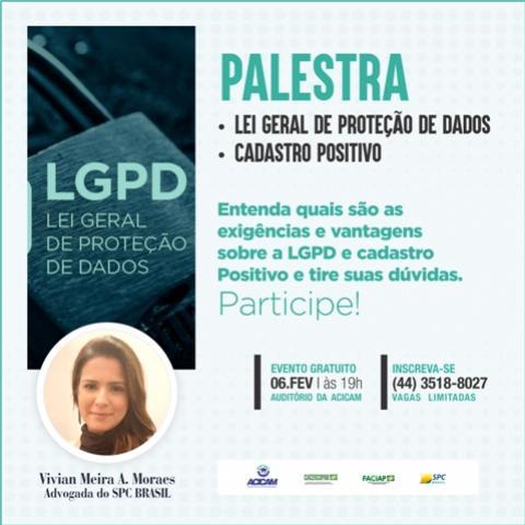 Palestra sobre Cadastro Positivo será realizada na Acicam de Campo Mourão