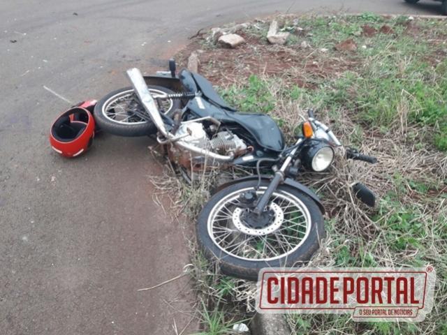 Polícia Militar recupera moto furtada envolvida em acidente neste sábado, 18, em Campo Mourão