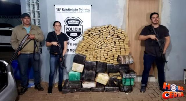Polícia Civil de C. Mourão recupera veículo furtado em Assis e apreende meia Tonelada de entorpecentes