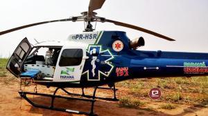 Uma pessoa fica ferida após capotamento na PR-180 em Mariluz