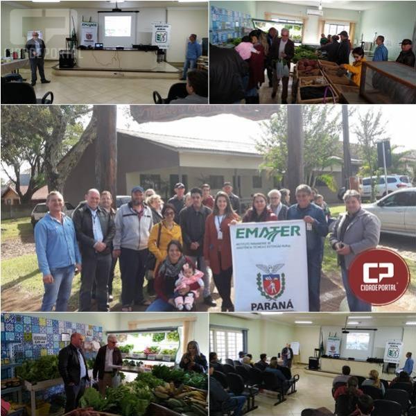 Produtores rurais de Roncador visitam a feira do produtor em Campina da Lagoa