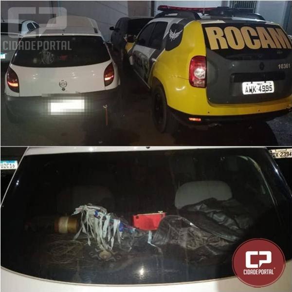 PM de Campo Mourão recupera veículo furtado e prende homem suspeito de receptação