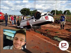 Capotamento próximo a São Lourenço tira vida de jovem de apenas 20 anos