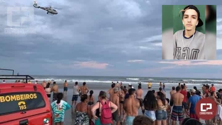 Pescador encontra corpo do rapaz de Engenheiro Beltrão que se afogou em Pontal