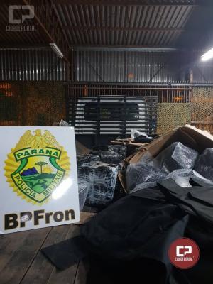 BPFRON apreende coletes e capacetes balísticos em Guaíra - PR