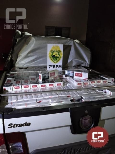 Após acompanhamento tático, Policiais Militares apreendem veículo carregado com cigarros