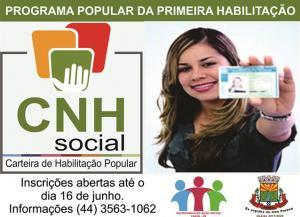 Secretaria de Ação Social do município de Farol abre inscrições para Programa Popular da Primeira Habilitação