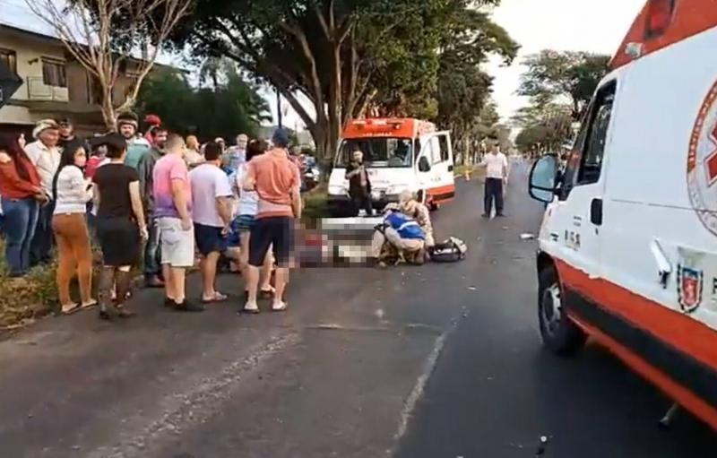 Grave acidente entre motos deixa 2 pessoas Gravemente feridas em Campo Mourão