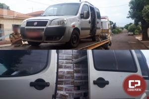 Polícia Militar apreende carro carregado com cigarros contrabandeados em Engenheiro Beltrão