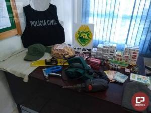 Mega Operação Policial prende responsável por furto qualificado e Incêndio criminoso em Engenheiro Beltrão