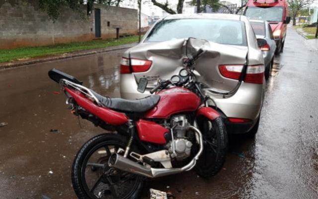Acidente envolvendo 4 veículos deixa criança de cinco anos ferida em Campo Mourão