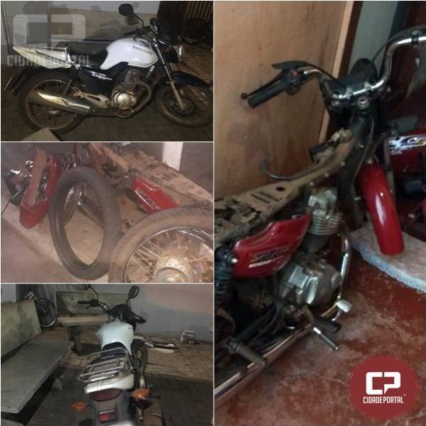 Polícia Militar recupera motocicletas furtadas e encaminha dois suspeitos de receptação em C. Mourão