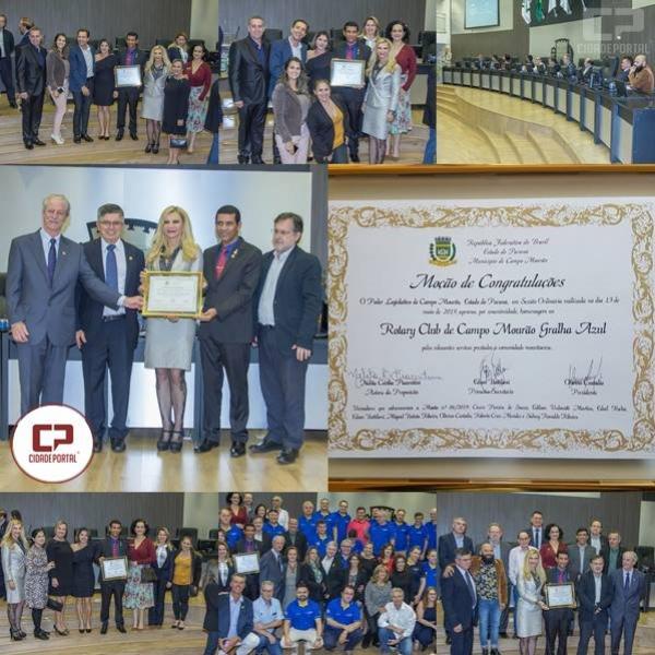 Câmara de Campo Mourão entrega moção ao Rotary Club Gralha Azul