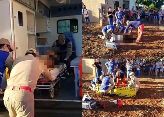 Motociclista fica ferida em acidente automobilístico no Jardim Aeroporto