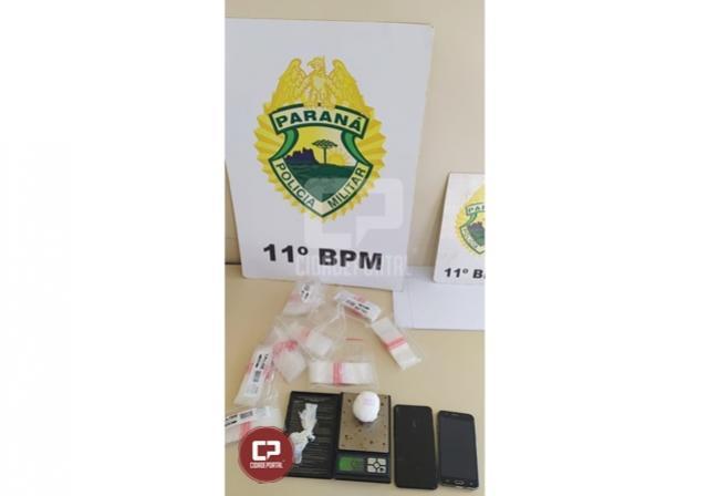 PM apreende cocaína e encaminha usuária de drogas para a Delegacia em Campo Mourão