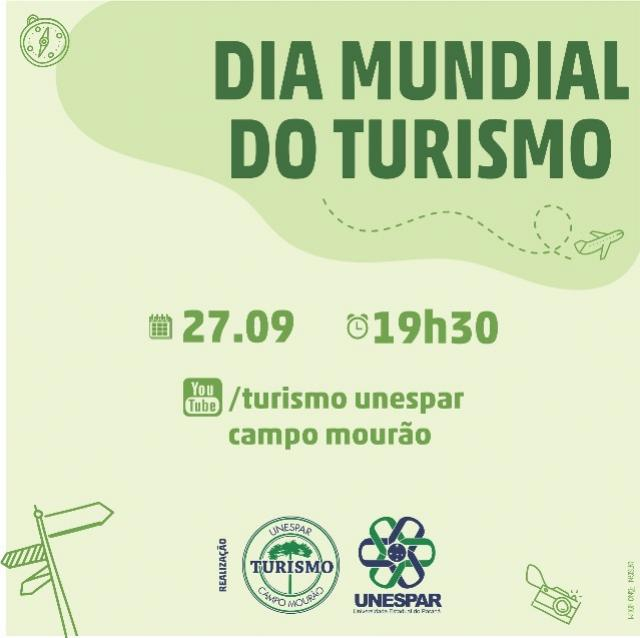 Alunos e professores da Unespar convida você para o evento alusivo ao Dia Mundial do Turismo
