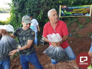 Grupos de pesca reúnem população de municípios da região para repovoamento de peixes no Rio Piquiri