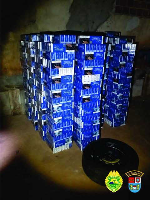 Mais de 30 mil maços de cigarro contrabandeado são apreendidos pelo 11º Batalhão em Campo Mourão