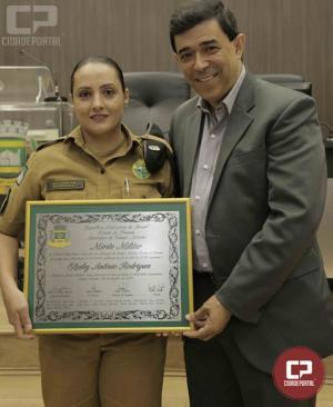 Policial feminina recebe homenagem da Câmara Municipal de Campo Mourão
