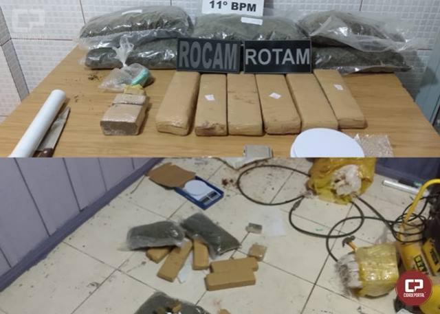 Polícia Militar apreende grande quantidade de drogas em Campo Mourão