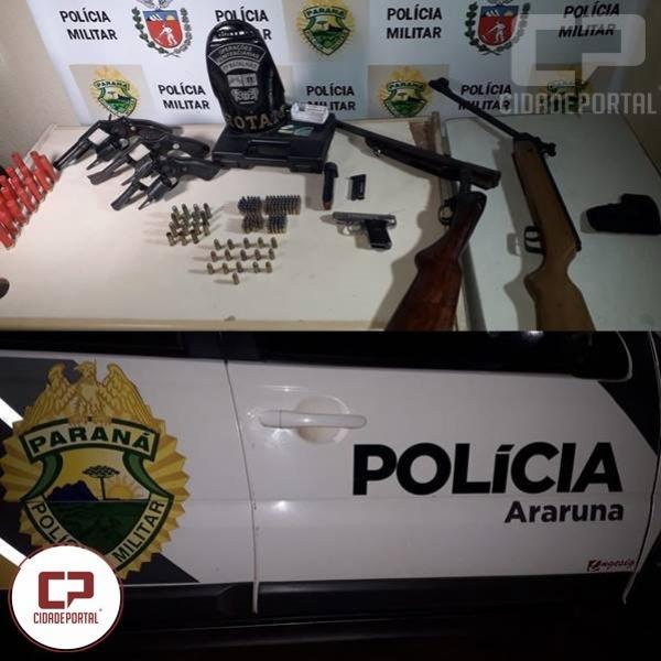 Polícia Militar prende homem por posse irregular de arma de fogo e ameaça em Araruna