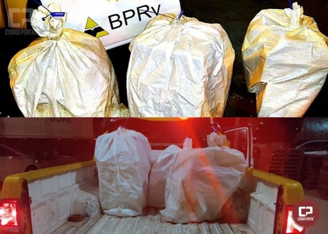 PRE de Peabiru apreende bebidas alcoólicas sendo contrabandeadas em ônibus de linha