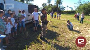 Polícia Ambiental de Umuarama, participou do evento ecológico denominado - O rio está para peixe