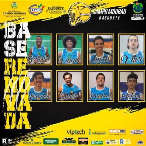 Campo Mourão Basquete anuncia renovação com oito atletas da base