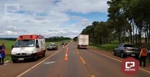 Grave acidente na BR-272 entre Campo Mourão e Farol mobiliza diversas equipes de socorro e helicóptero saúde 10.