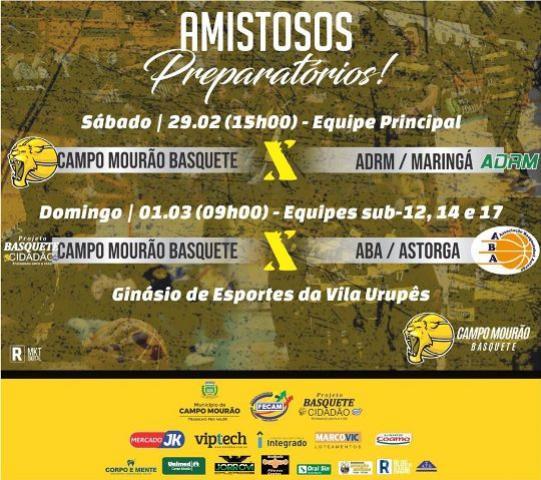 Equipe do Campo Mourão Basquete enfrentará ADRM Maringá neste sábado, 29