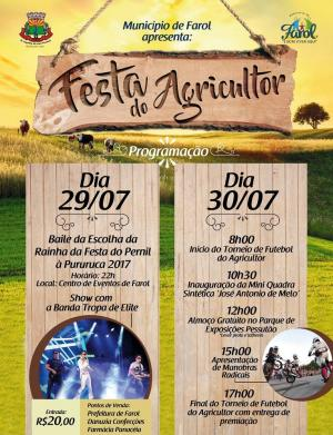 Prefeitura de Farol irá realizar escolha da Rainha do Pernil à Pururuca 2017
