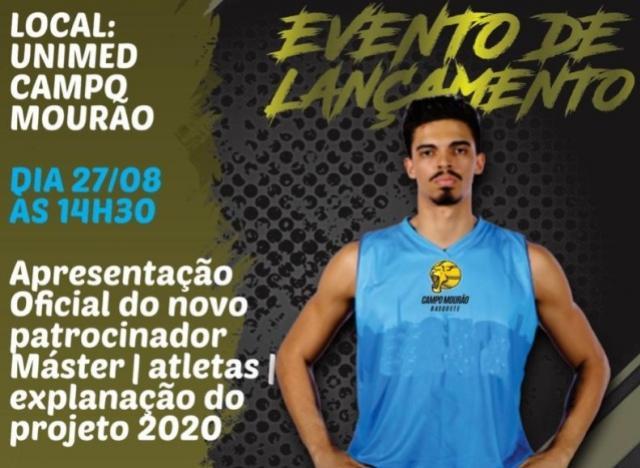 Campo Mourão Basquete apresenta nessa terça, 27, novo patrocinador Máster e projeto para 2020