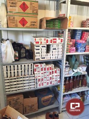 Duas pessoas foram presas em posse de cigarros e medicamentos contrabandeados em Mariluz