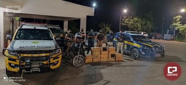 PRF e PM apreendem 305 quilos de maconha e 2 quilos de cocaína em Campo Mourão