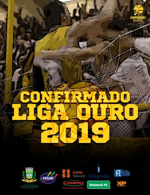 CONFIRMADO: Campo Mourão Basquete jogará Liga Ouro em 2019