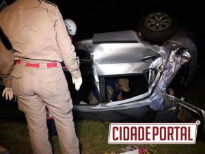 Padre de Quinta do Sol sofre acidente na BR-158 próximo a Peabiru