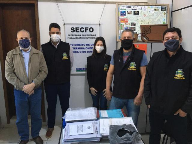 Equipes de fiscalização do município de Campo Mourão recebem coletes
