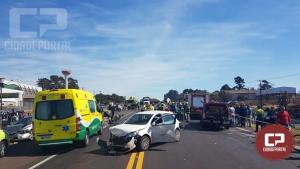 PRF atende acidente envolvendo 06 veículos com 03 óbitos na BR-277 em Cascavel
