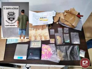 Policia Civil de Campo Mourão prende estudante por envolvimento ao tráfico de drogas