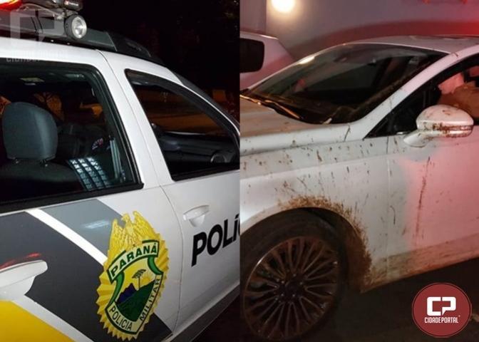 Polícia Militar recupera carro roubado e prende quatro suspeitos em Campo Mourão