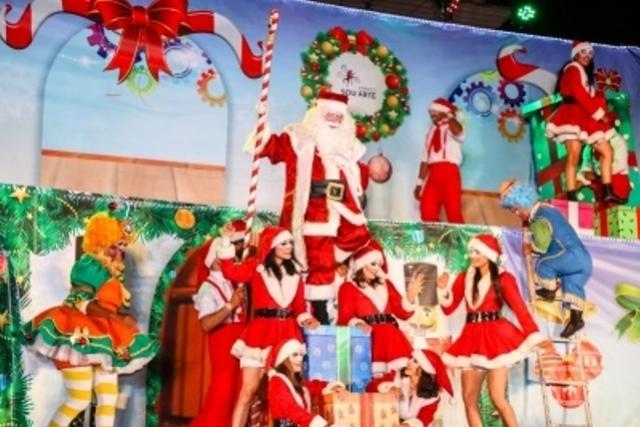 Chegada do Papai Noel será em espetáculo de circo, teatro e dança